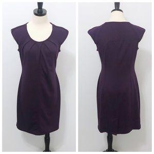 Spense Purple Zipper Detail Sheath Dress